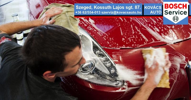 Kézi autómosó kedvező áron Szeged belvárosában